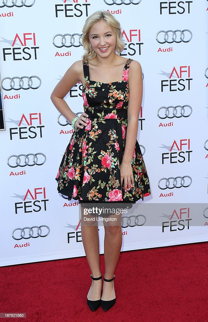 Actress <a gi-track='captionPersonalityLinkClicked' href=/galleries/search?phrase=Audrey+Whitby&family=editorial&specificpeople=7784359 ng-click='$event.stopPropagation()'>Audrey Whitby</a> attends the AFI FEST 2013 presented by Audi 50th Anniversary Commemoration Screening of Disney's 'Mary Poppins' at the TCL Chinese Theatre on November 9, 2013 in Hollywood, California.