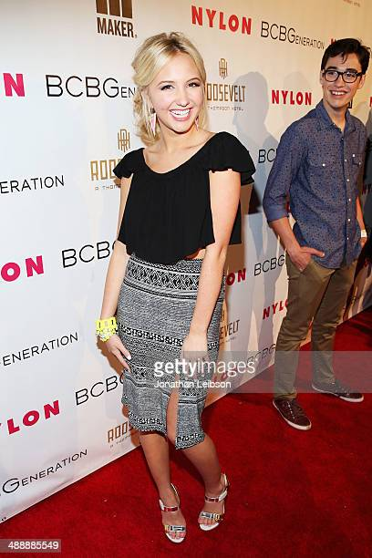 Actress Audrey Whitby attends the Nylon BCBGeneration May Young Hollywood Party at Hollywood Roosevelt Hotel on May 8 2014 in Hollywood California