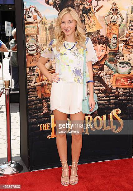 Actress Audrey Whitby attends the premiere of 'The Boxtrolls' at Universal CityWalk on September 21 2014 in Universal City California