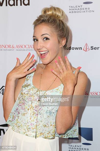 Actress Audrey Whitby attends the TMA 2015 Heller Awards at the Hyatt Regency Century Plaza on May 28 2015 in Century City California