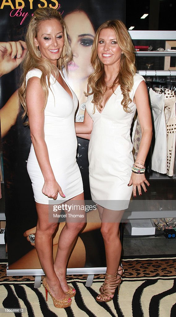 Actress <a gi-track='captionPersonalityLinkClicked' href=/galleries/search?phrase=Audrina+Patridge&family=editorial&specificpeople=2584350 ng-click='$event.stopPropagation()'>Audrina Patridge</a> and Australian designer Abby Kheri's at the 2012 MAGIC Convention at Mandalay Bay Hotel on August 21, 2012 in Las Vegas, Nevada.