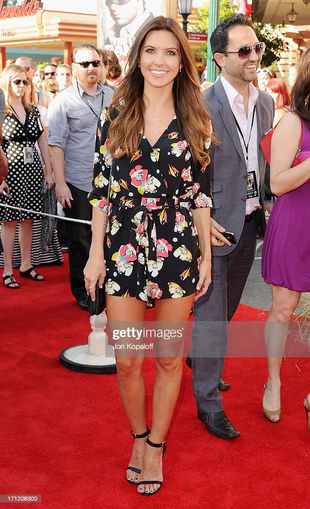 Actress <a gi-track='captionPersonalityLinkClicked' href=/galleries/search?phrase=Audrina+Patridge&family=editorial&specificpeople=2584350 ng-click='$event.stopPropagation()'>Audrina Patridge</a> arrives at the Los Angeles premiere 'The Lone Ranger' at Disney California Adventure Park on June 22, 2013 in Anaheim, California.