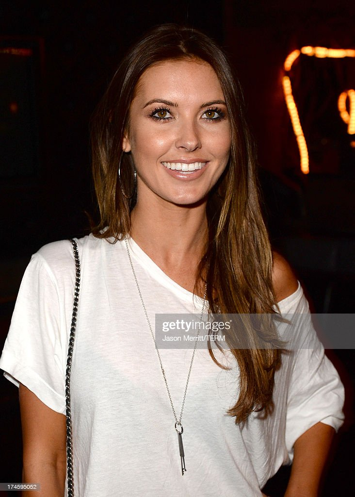 Actress <a gi-track='captionPersonalityLinkClicked' href=/galleries/search?phrase=Audrina+Patridge&family=editorial&specificpeople=2584350 ng-click='$event.stopPropagation()'>Audrina Patridge</a> attends a private event at Hyde Lounge for the Bruno Mars & Ellie Goulding concert hosted by AQUAhydrate at The Staples Center on July 27, 2013 in Los Angeles, California.