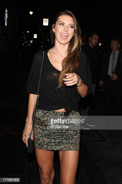 Actress Audrina Patridge is seen on August 19 2013 in Los Angeles California