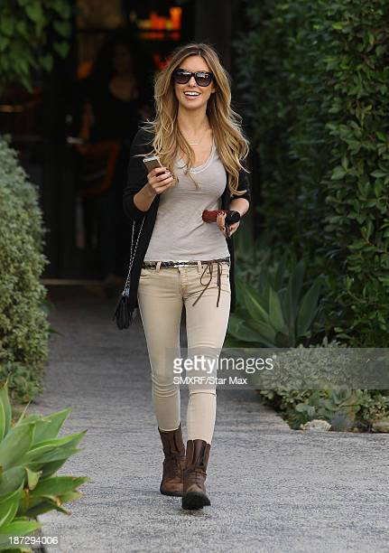 Actress Audrina Patridge is seen on November 7 2013 in Los Angeles California