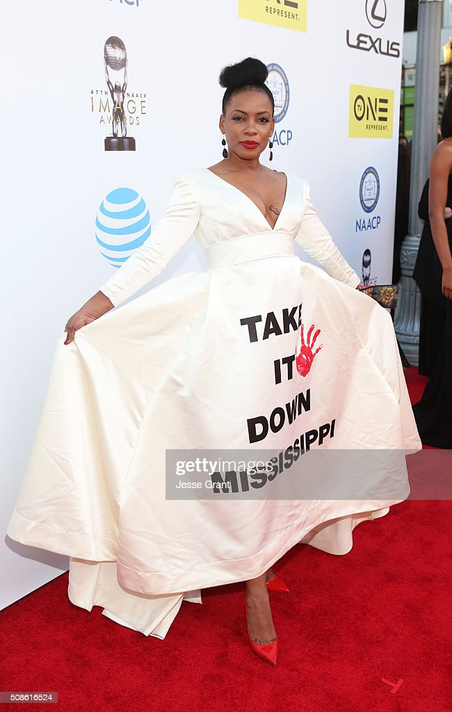 Actress Aujanue Ellis attends the 47th NAACP Image Awards presented by TV One at Pasadena Civic Auditorium on February 5, 2016 in Pasadena, California.