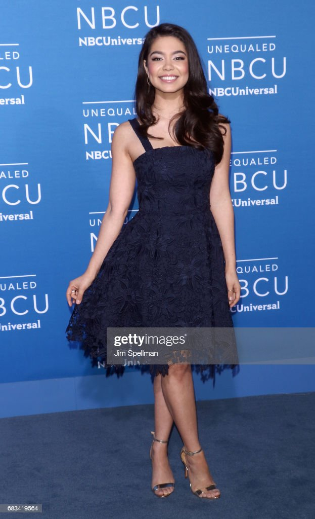 Actress Auli'i Cravalho attends the 2017 NBCUniversal Upfront at Radio City Music Hall on May 15, 2017 in New York City.