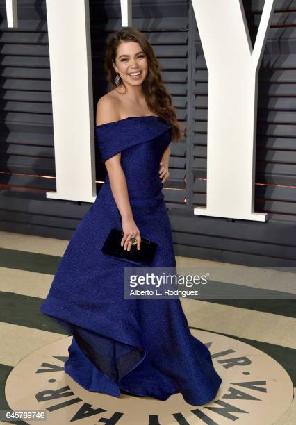 Actress Auli'i Cravalho attends the 2017 Vanity Fair Oscar Party hosted by Graydon Carter at Wallis Annenberg Center for the Performing Arts on...