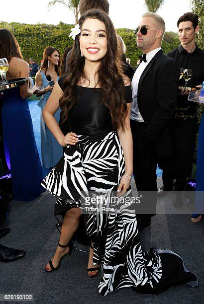 Actress Auli'i Cravalho attends the 22nd Annual Critic's Choice Awards at Barker Hangar on December 11 2016 in Santa Monica California