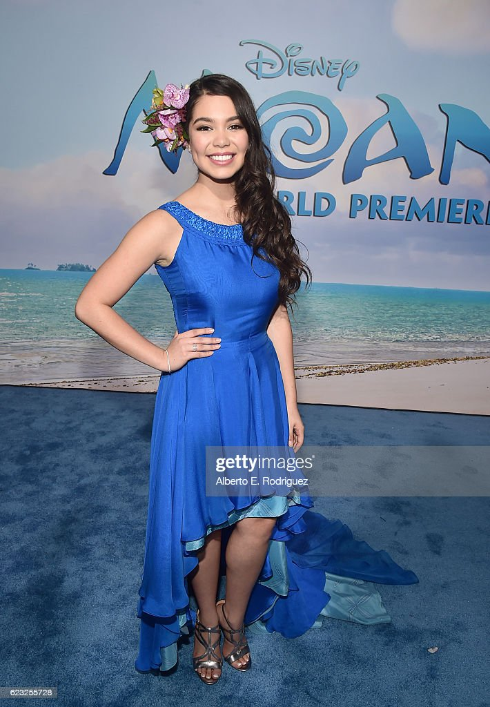 Actress Auli'i Cravalho attends The World Premiere of Disney's 'MOANA' at the El Capitan Theatre on Monday, November 14, 2016 in Hollywood, CA.