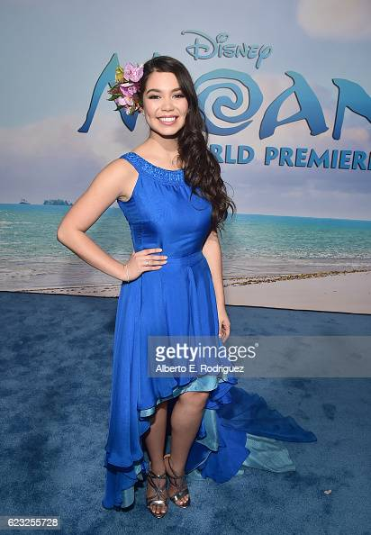 Actress Auli'i Cravalho attends The World Premiere of Disney's 'MOANA' at the El Capitan Theatre on Monday November 14 2016 in Hollywood CA