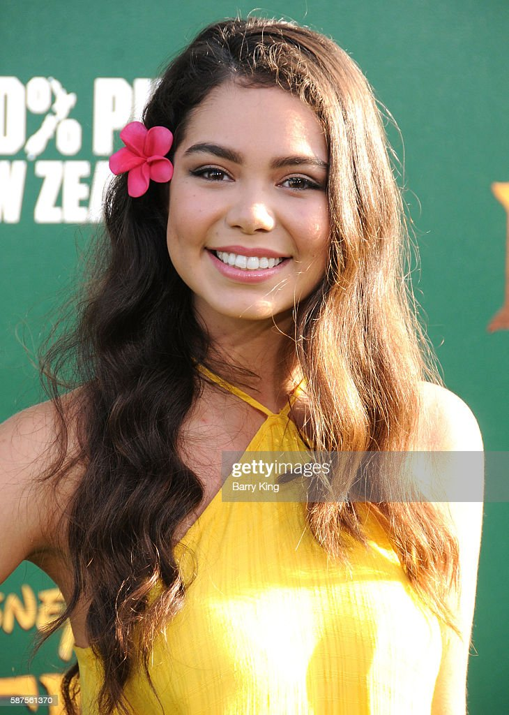 Actress Auli'i Ravalho attends the World Premiere of Disney's 'Pete's Dragon' at the El Capitan Theatre on August 8 2016 in Hollywood California