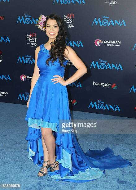 Actress Auli'l Cravalho attends AFI FEST 2016 Presented By Audi Premiere of Disney's 'Moana' at the El Capitan Theatre on November 14 2016 in...