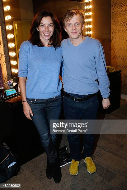 Actress Aure Atika and Humorist Alex Lutz attend Alex Lutz One man Show at L'Olympia on January 24 2015 in Paris France