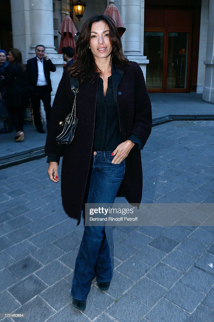 Actress Aure Atika attends the Ary Abittan performance at Theater Edouard VII benefiting 'Un Coeur Pour La Paix' on June 24, 2013 in Paris, France.