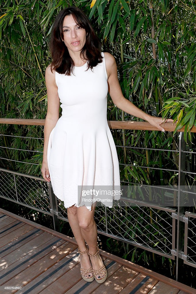 Actress Aure Atika attends the Roland Garros French Tennis Open 2014 - Day 14 on June 7, 2014 in Paris, France.