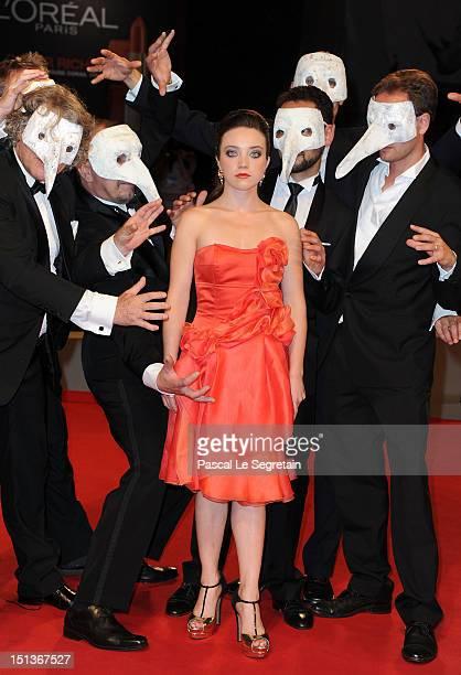 Actress Aurelia Poirier attends 'La Cinquieme Saison' Premiere at the 69th Venice Film Festival at the Palazzo del Cinema on September 6 2012 in...