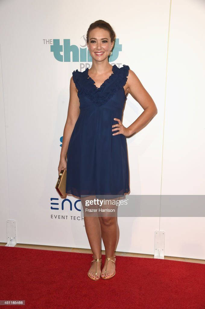 Actress Austin Highsmith arrives at the 5th Annual Thirst Gala Hosted By Jennifer Garner In Partnership With Skyo And Relativity's 'Earth To Echo' at The Beverly Hilton Hotel on June 24, 2014 in Beverly Hills, California.