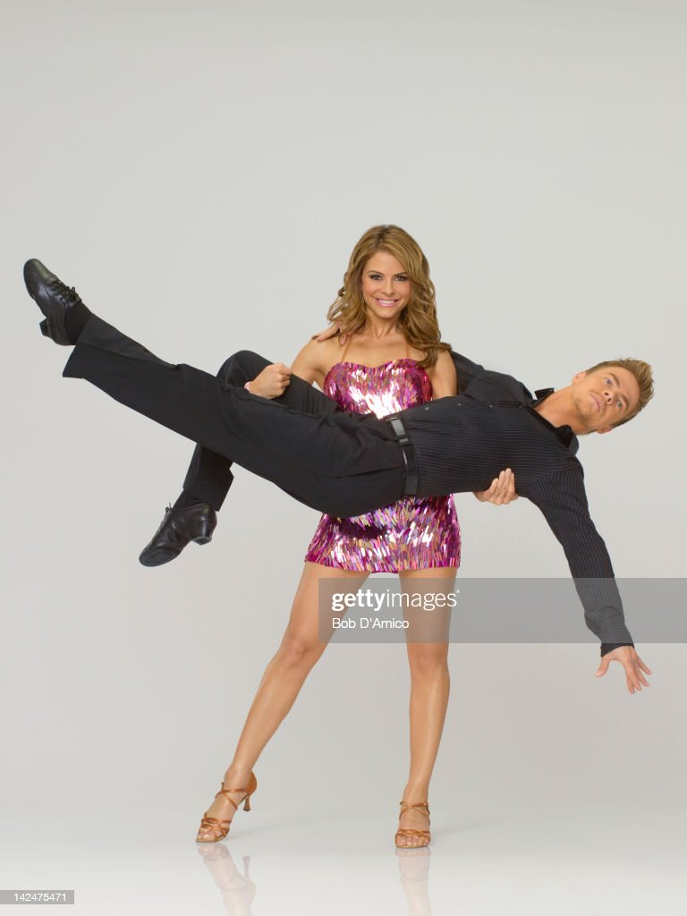 STARS - (EXCLUSIVE TO GETTY IMAGES UNTIL APRIL 19, 2012) MARIA MENOUNOS & DEREK HOUGH - Actress, author and the host of 'EXTRA,' Maria Menounos joins three-time champ Derek Hough, who is returning for his 9th season. The two-hour season premiere of 'Dancing with the Stars' airs MONDAY, MARCH 19 (8:00-10:01 p.m., ET) on the ABC Television Network.