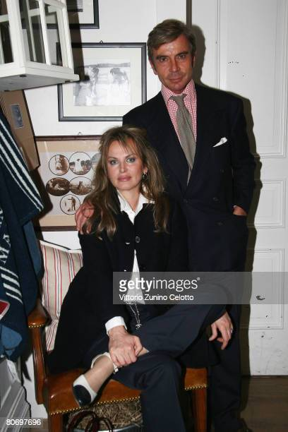 Actress / author Dalila di Lazzaro and architect Michele Polon attend Ralph Lauren Home cocktail party held at Ralph Lauren boutique on April 16 2008...