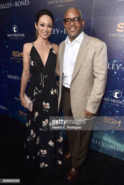 Actress Autumn Reeser and producer Harry Smith attend the world premiere of 'Valley Of Bones' at ArcLight Hollywood on August 24 2017 in Hollywood...