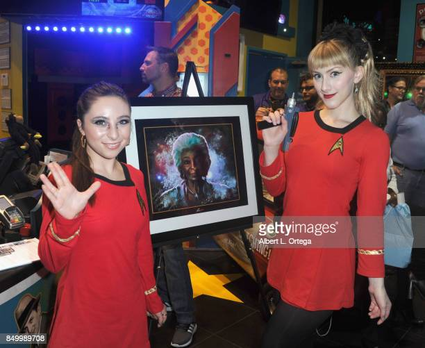 Actress Ava Cantrell and actress/cosplayer TaraNicole Azarian at The Hollywood SciFi Museum's Tribute To Nichelle Nichols held at Ripley's Believe It...