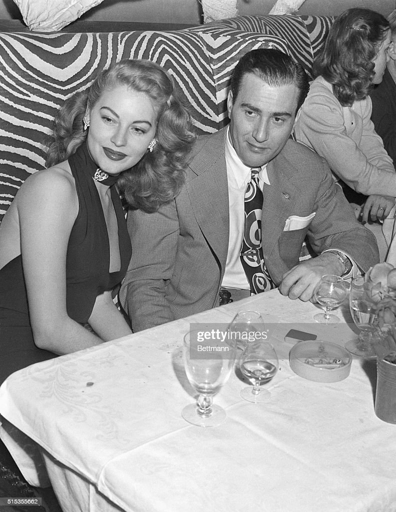 Actress Ava Gardner and Musician Artie Shaw at El Morocco in New York several months before they married.