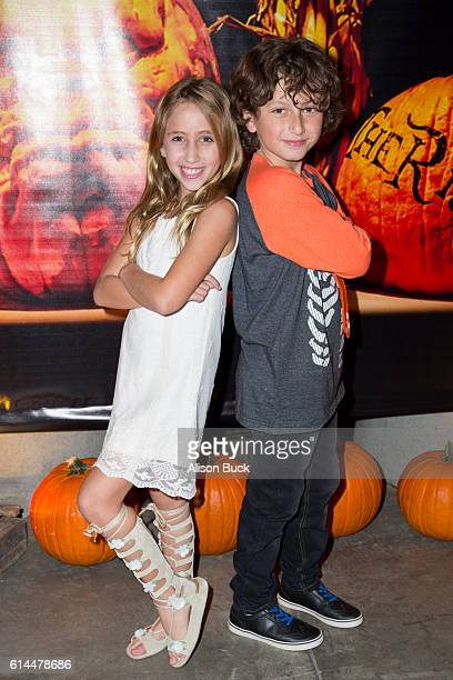 Actress Ava Kolker and actor August Maturo attend the Rise Of The Jack O'Lanterns at Los Angeles Convention Center on October 13 2016 in Los Angeles...