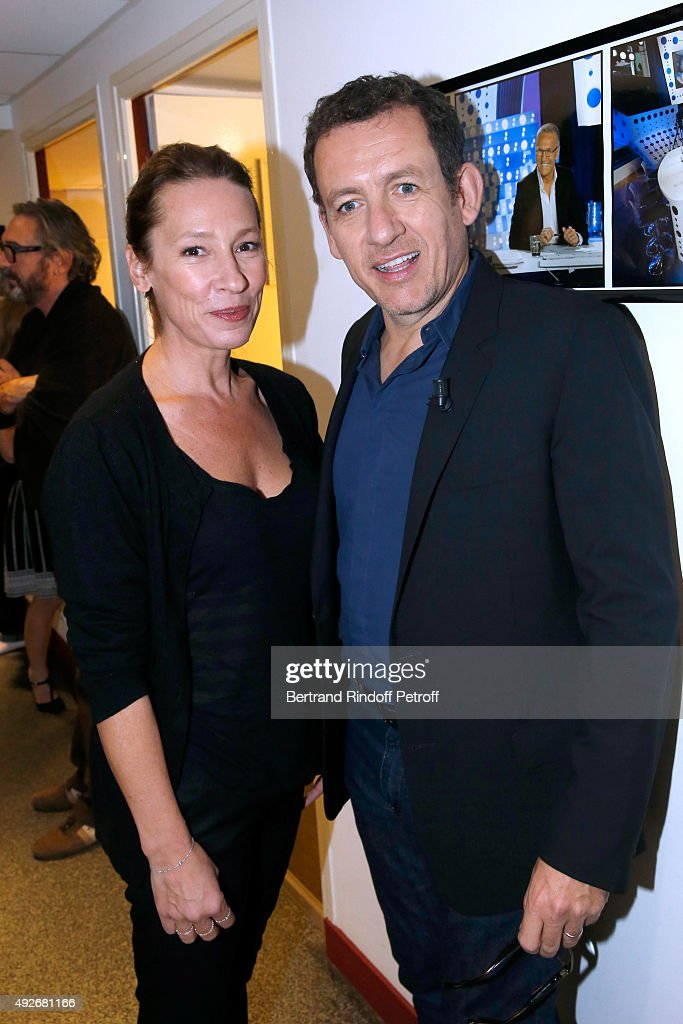 Actress Award at the Cannes International Film Festival 2015, <a gi-track='captionPersonalityLinkClicked' href=/galleries/search?phrase=Emmanuelle+Bercot&family=editorial&specificpeople=2147740 ng-click='$event.stopPropagation()'>Emmanuelle Bercot</a> and Actor <a gi-track='captionPersonalityLinkClicked' href=/galleries/search?phrase=Dany+Boon&family=editorial&specificpeople=612915 ng-click='$event.stopPropagation()'>Dany Boon</a> attend the 'Vivement Dimanche' French TV Show at Pavillon Gabriel on October 14, 2015 in Paris, France.