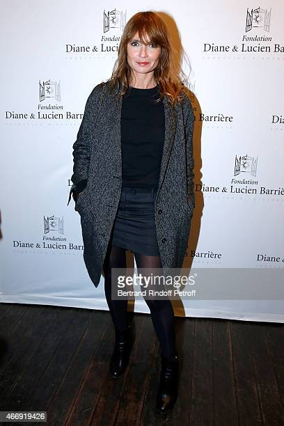 Actress Axelle Laffont attends movie 'Les Chateaux de Sable' receives Cinema Award 2015 of Foundation Diane Lucien Barriere during the premiere of...