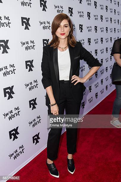 Actress Aya Cash arrives at the 'For Your Consideration' event for FX's 'You're the Worst' at ArcLight Hollywood on June 2 2016 in Hollywood...