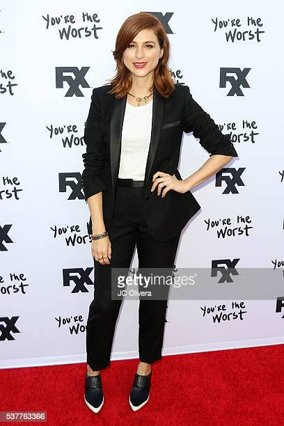 Actress Aya Cash attends For Your Consideration Event For FX's 'You're The Worst' at ArcLight Hollywood on June 2 2016 in Hollywood California