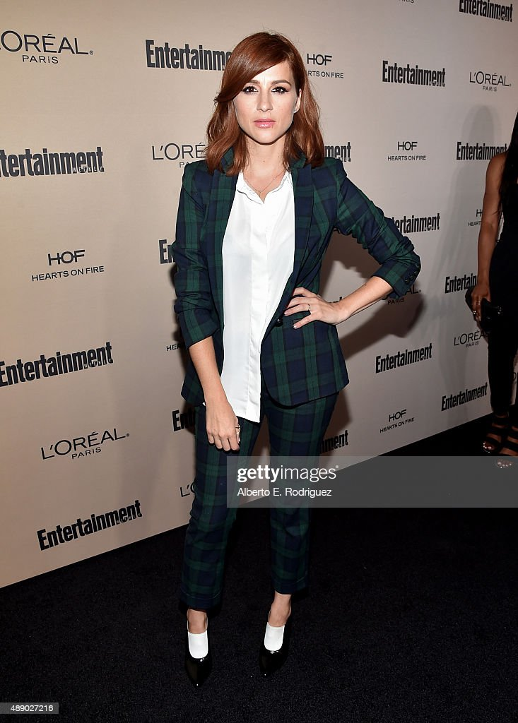 Actress Aya Cash attends the 2015 Entertainment Weekly Pre-Emmy Party at Fig & Olive Melrose Place on September 18, 2015 in West Hollywood, California.