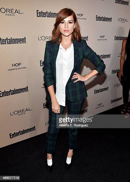 Actress Aya Cash attends the 2015 Entertainment Weekly PreEmmy Party at Fig Olive Melrose Place on September 18 2015 in West Hollywood California
