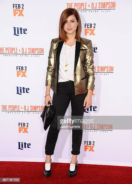 Actress Aya Cash attends the premiere of 'American Crime Story The People V OJ Simpson' at Westwood Village Theatre on January 27 2016 in Westwood...
