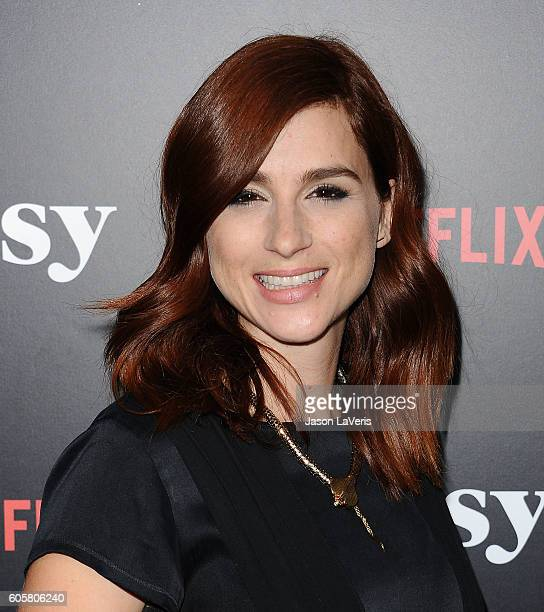 Actress Aya Cash attends the premiere of 'Easy' at The London Hotel on September 14 2016 in West Hollywood California