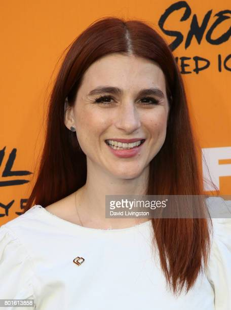 Actress Aya Cash attends the premiere of FX's 'Snowfall' at The Theatre at Ace Hotel on June 26 2017 in Los Angeles California