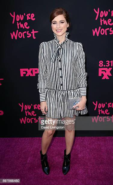 Actress Aya Cash attends the premiere of FXX's 'You're the Worst' Season 3 on August 28 2016 in Los Angeles California