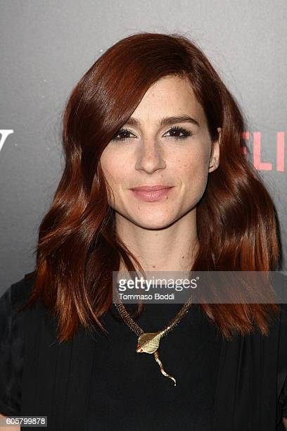 Actress Aya Cash attends the premiere of Netflix's 'Easy' at The London Hotel on September 14 2016 in West Hollywood California
