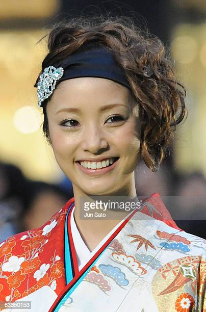 Actress Aya Ueto attends The 21st Tokyo International Film Festival Opening Ceremony at Roppongi Hills on October 18 2008 in Tokyo Japan TIFF takes...