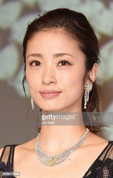 Actress Aya Ueto attends the Awarding Ceremony of Japan Jewelry Fair at Tokyo Big Sight on September 3 2016 in Tokyo Japan