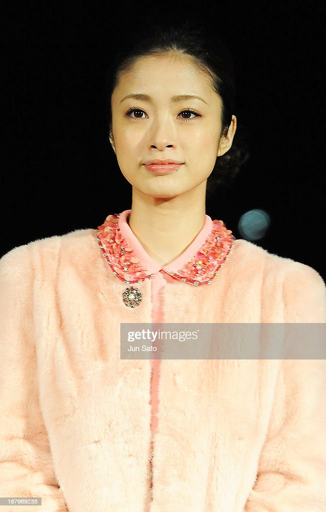Actress <a gi-track='captionPersonalityLinkClicked' href=/galleries/search?phrase=Aya+Ueto&family=editorial&specificpeople=2116424 ng-click='$event.stopPropagation()'>Aya Ueto</a> attends the Tokyo Midtown Christmas Lighting ceremony on November 14, 2013 in Tokyo, Japan.
