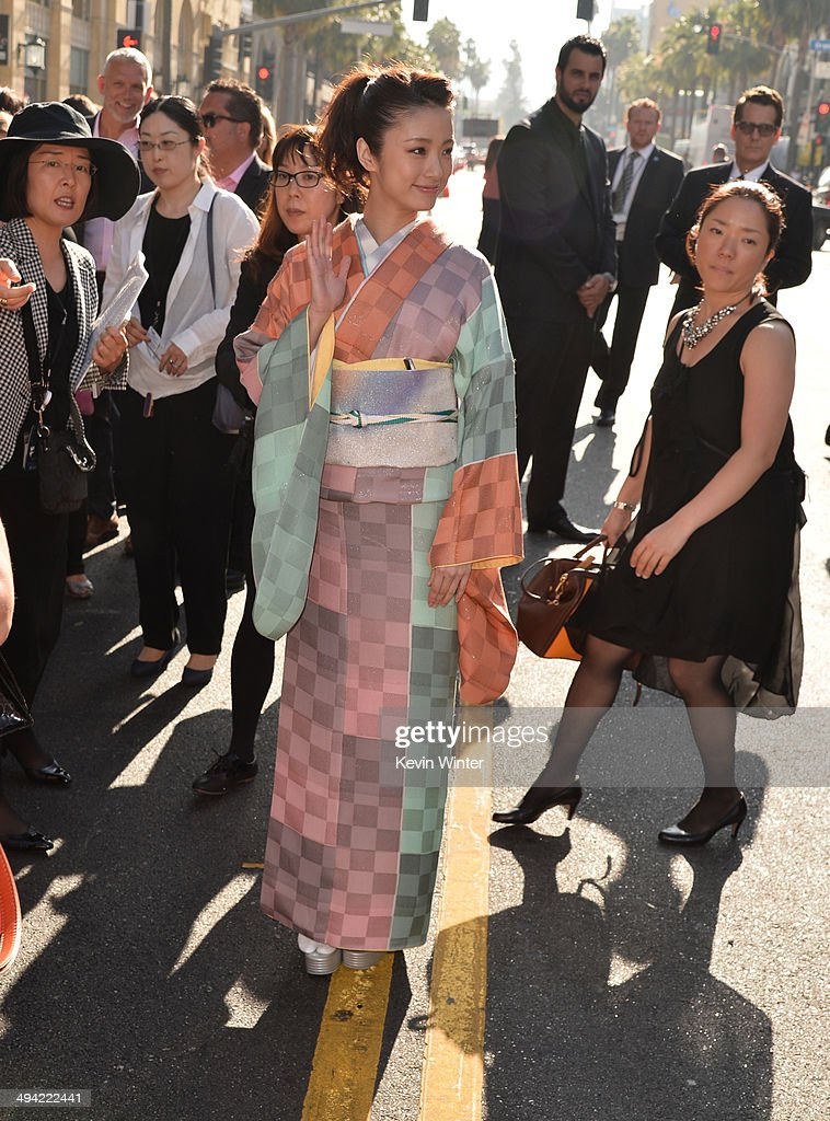 Actress <a gi-track='captionPersonalityLinkClicked' href=/galleries/search?phrase=Aya+Ueto&family=editorial&specificpeople=2116424 ng-click='$event.stopPropagation()'>Aya Ueto</a> attends the World Premiere of Disney's 'Maleficent' at the El Capitan Theatre on May 28, 2014 in Hollywood, California.