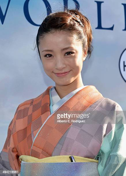 Actress Aya Ueto attends the World Premiere of Disney's 'Maleficent' starring Angelina Jolie at the El Capitan Theatre on May 28 2014 in Hollywood...