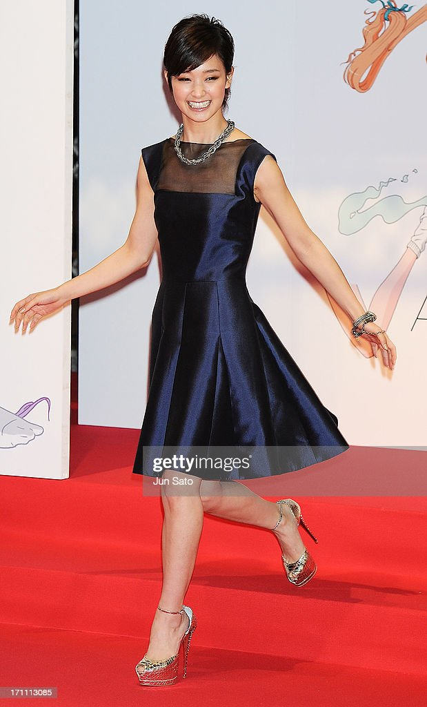 Actress Ayame Goriki attends the MTV Video Music Awards Japan 2013 at Makuhari Messe on June 22, 2013 in Chiba, Japan.
