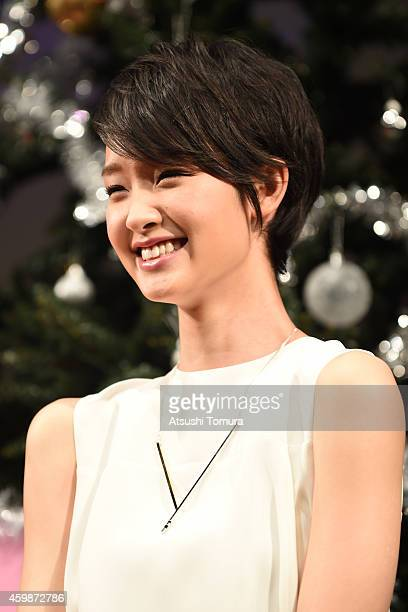 Actress Ayame Goriki attends the premiere of 'Love Rosie' on December 3 2014 in Tokyo Japan