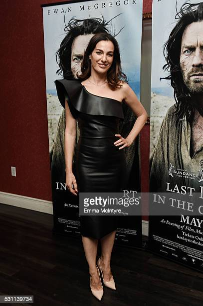 Actress Ayelet Zurer arrives at a screening of Broad Green Pictures' 'Last Days In The Desert' at Laemmle Royal Theatre on May 12 2016 in Santa...