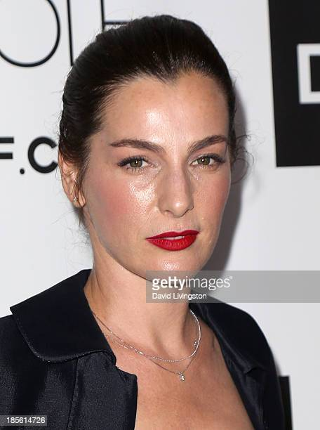 Actress Ayelet Zurer attends the Dahlia Wolf Launch Party at the Graffiti Cafe on October 22 2013 in Los Angeles California