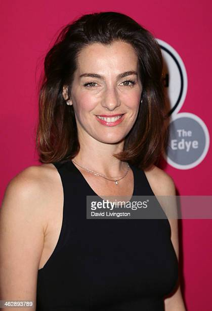 Actress Ayelet Zurer attends the Los Angeles opening night of 'An Iliad' at The Eli and Edythe Broad Stage on January 15 2014 in Santa Monica...
