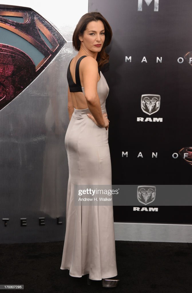 Actress Ayelet Zurer attends the 'Man Of Steel' world premiere at Alice Tully Hall at Lincoln Center on June 10, 2013 in New York City.